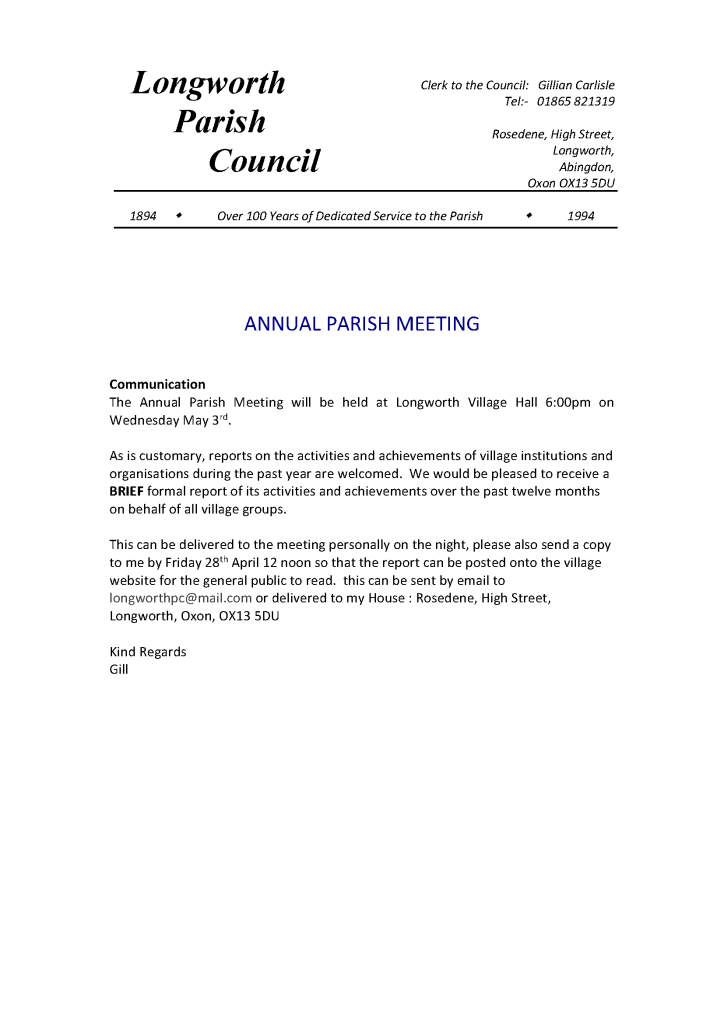_annualparishmeeting report request