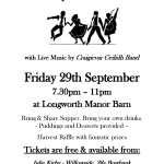Longworth Barn Dance Village Poster Sept 2017 A4